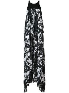 длинное платье с рисунком тай-дай Victor Alfaro