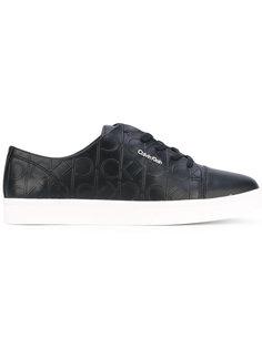 кеды со шнуровкой и тисненым логотипом Calvin Klein