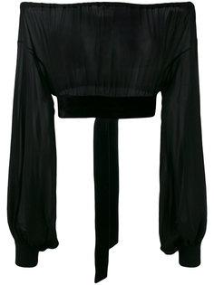 блузка с открытыми плечами  Saint Laurent