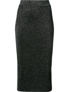 приталенная юбка-миди с эффектом металлик Cushnie Et Ochs