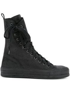 ботинки со смещенной шнуровкой Ann Demeulemeester
