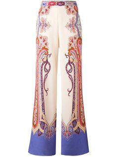брюки-палаццо с принтом пейсли Etro