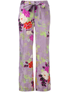 расклешенные брюки с цветочным рисунком Etro