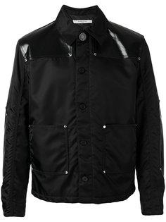 куртка с панелями из искусственной кожи Givenchy