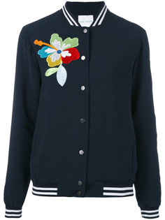 куртка бомбер с цветочной вышивкой Mira Mikati