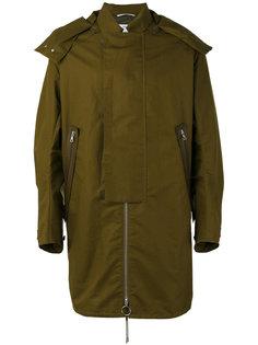 пальто в полоску с капюшоном  Oamc