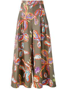 брюки палаццо с цветочным принтом Peter Pilotto
