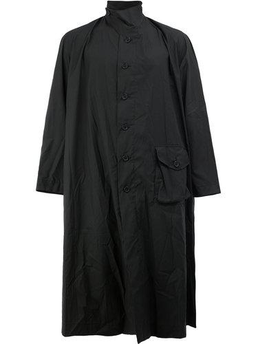 пальто свободного кроя с высоким воротником By Walid