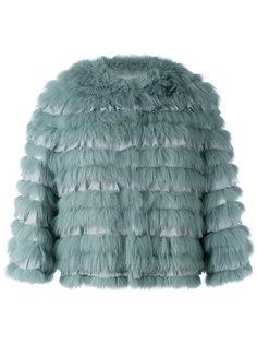 куртка с шелковыми панелями Yves Salomon