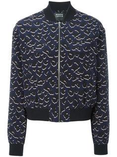 куртка-бомбер с леопардовым принтом  Markus Lupfer