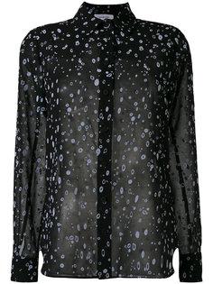 полупрозрачная рубашка с принтом  Carven