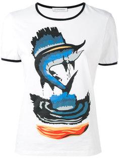 футболка с принтом рыбы JW Anderson