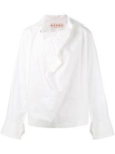 блузка с воротником-хомутом Marni