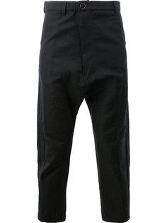 укороченные брюки с заниженной проймой Taichi Murakami