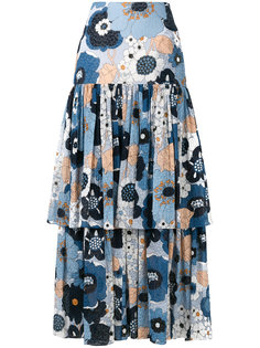 крестьянская юбка с цветочным принтом Chloé
