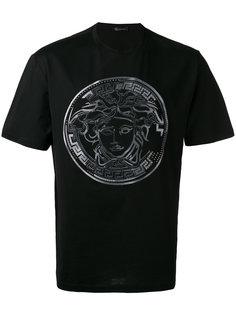 футболка с вышивкой Medusa и эффектом омбре Versace