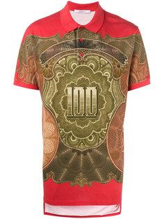 футболка-поло с денежным принтом Givenchy