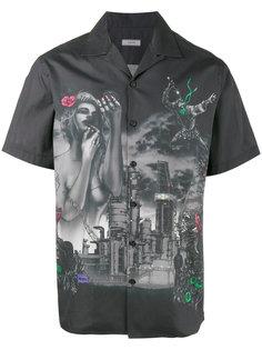 рубашка с фантазийным принтом Lanvin