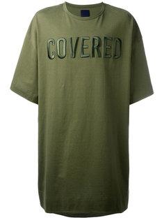 свободная футболка с нашивками спереди Juun.J