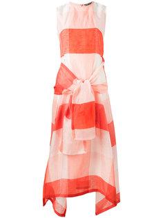 клетчатое платье с завязкой Sportmax