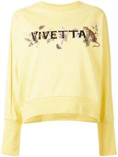 толстовка с принтом Vivetta
