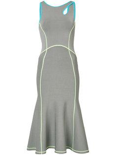 приталенное платье с контрастной окантовкой Alexander Wang