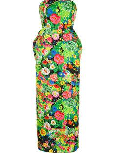 длинное платье с цветочным принтом Rosie Assoulin