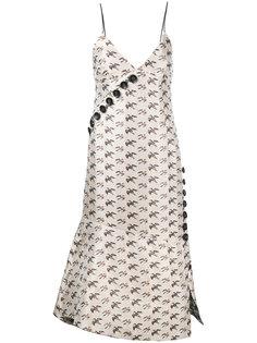 жаккардовое платье с узором птиц Irene