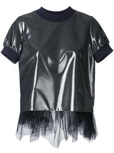 футболка с тюлевой отделкой  Kolor