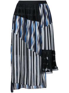 многослойная юбка плиссе Kolor