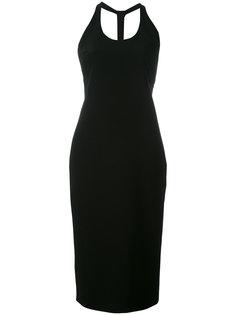 облегающее платье с Т-образным ремешком сзади Tom Ford