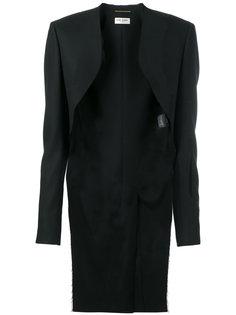 пиджак с необработанными краями Saint Laurent