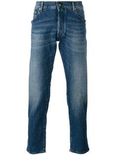 джинсы слим с эффектом кислотной стирки  Jacob Cohen