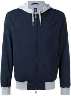 куртка с контрастным капюшоном Eleventy