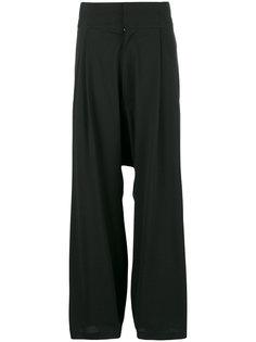 свободные брюки с заниженной проймой Y-3