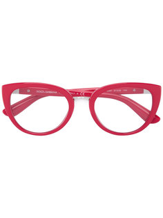 очки с овальной оправой Dolce & Gabbana Eyewear