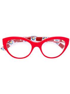 очки с узором Mambo Dolce & Gabbana Eyewear
