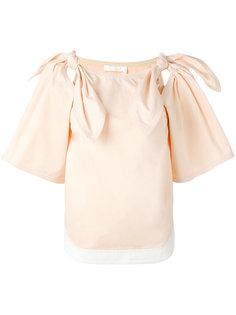 блузка с бантами на плечах Chloé