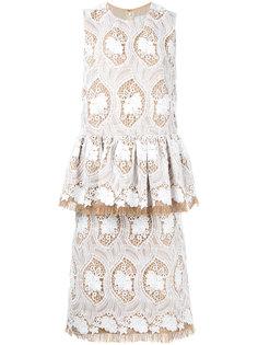 платье с вышивкой  Huishan Zhang