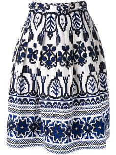 расклешенная юбка с принтом Samantha Sung