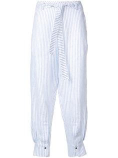 укороченные брюки в полоску Nehera