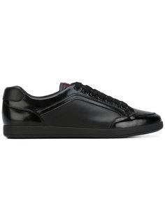 низкие кроссовки со вставками Prada