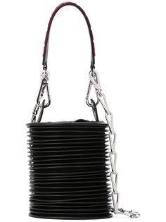 сумка-тоут с ребристой отделкой Paco Rabanne