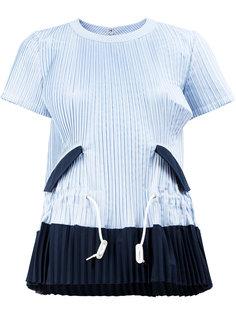 расклешенная блузка Sacai