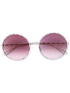 солнцезащитные очки в круглой оправе Elie Saab