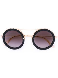 круглые солнцезащитные очки Elie Saab