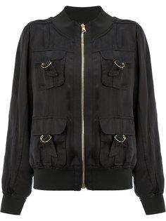 куртка-бомбер  с D-образными пряжками на карманах Balmain