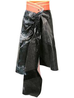 драпированная юбка с контрастным поясом Martina Spetlova