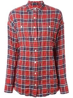 рубашка в клетку с узлом на спине R13