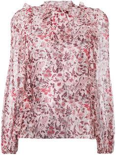 блузка с рисунком и оборками Giambattista Valli